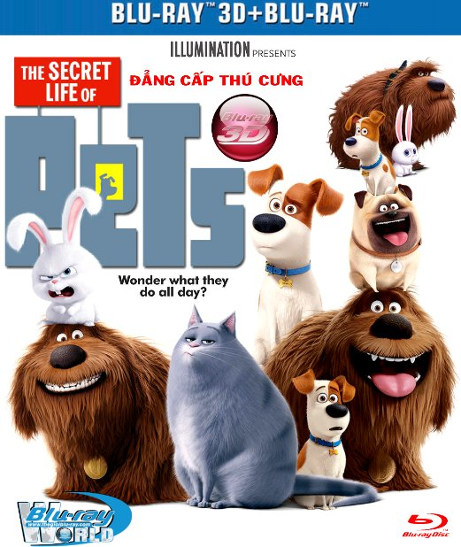 D309.The Secret Life of Pets 2016 - ĐẲNG CẤP THÚ CƯNG 3D25G (TRUE - HD 7.1 DOLBY ATMOS)